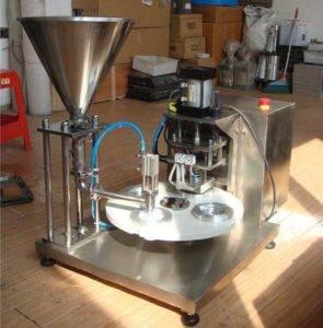 Semi-Automatic Tea Pods Capsules Filling Sealing Machine