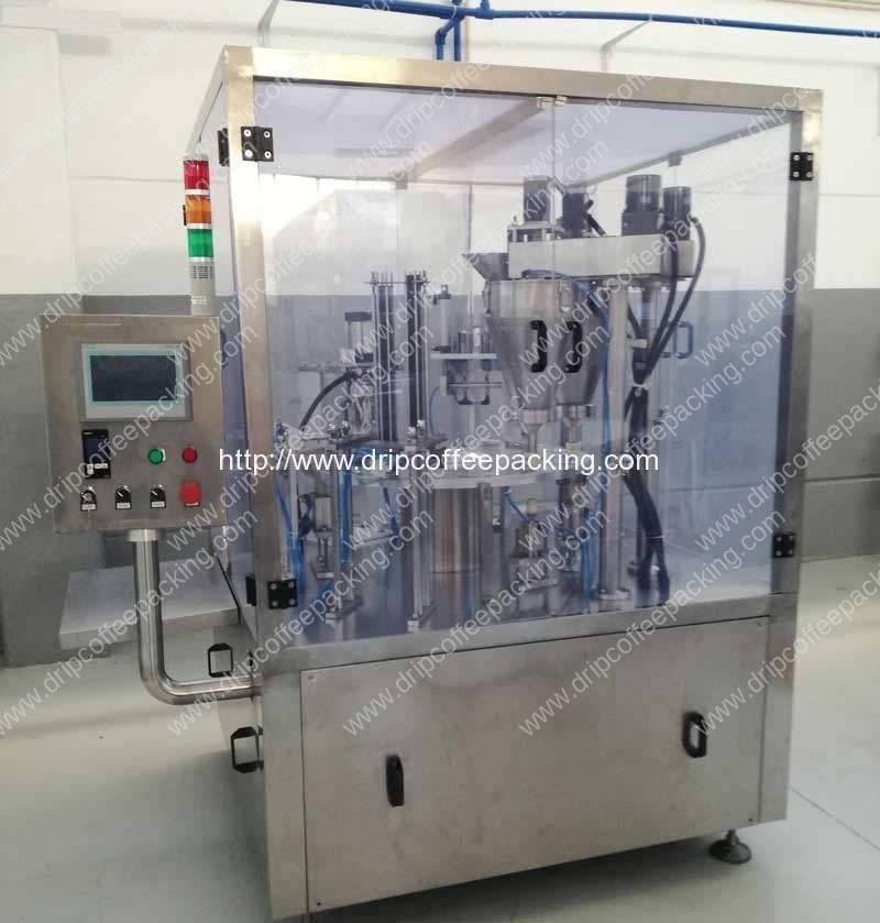 Automatic Kcups Tea Capsules Filling Sealing Machine for Sri Lanka Customer