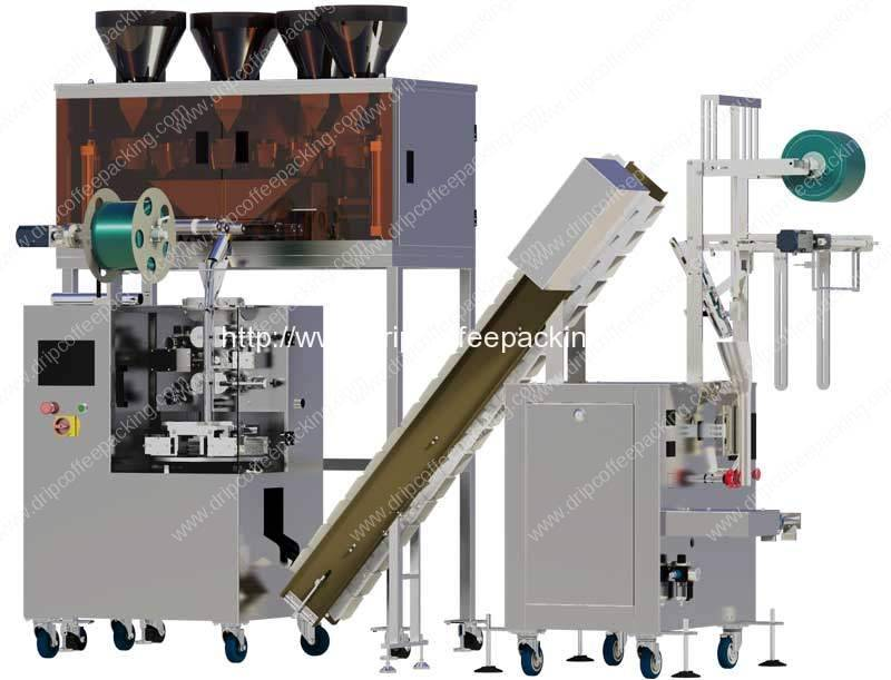 All in One Pyramid Tea Bag Inner and Outer Bag Packing Machine