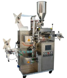 Square Shape Tea Bag Packing Machine with Tag and String Function