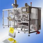 Double Chamber Tea Bag Making Machine with Sticky Tag